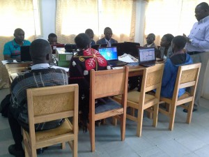 ToroDev members in an online training session led by WOUGNET in Fort Portal